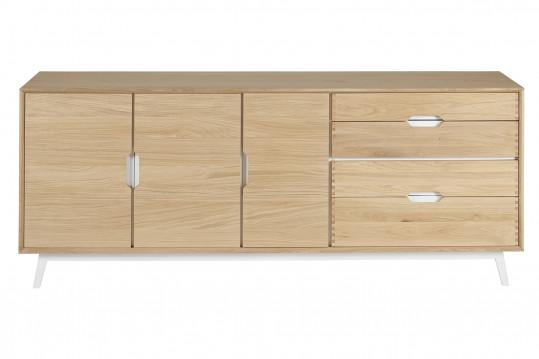Buffet nordique en bois 3 portes + 4 tiroirs JOYCE
