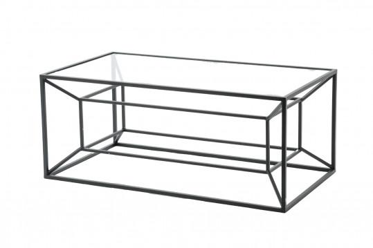 Table basse métal et verre MATRICE