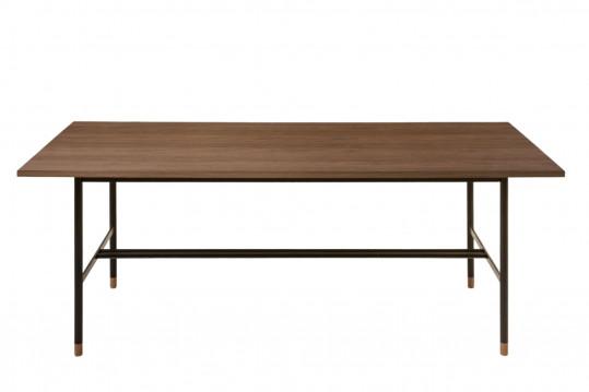 Table rectangulaire en bois et métal noir L200 JERSEY