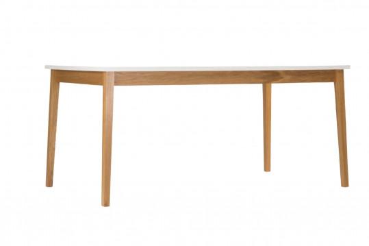 Table rectangulaire bois et blanc L165 - BIANCA