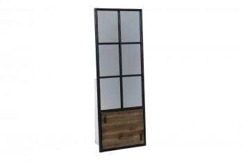 Miroir bois et métal allure porte - 155 cm - Agar