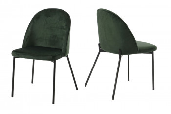 Chaises en velours - RIO (Lot de 2)