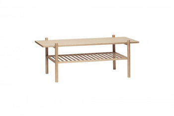 Table basse scandinave rectangulaire en chêne - BRITTA