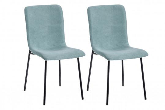 Chaises modernes en tissu et métal (lot de 2) - MADDIE