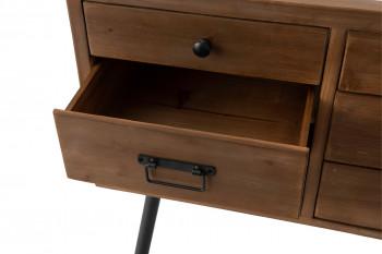 zoom sur un tiroir de la console