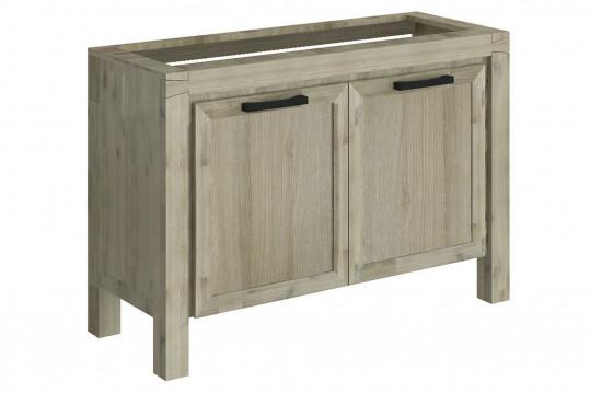 meuble sous vasque 120 cm en acacia