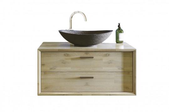 meuble simple vasque avec vasque en pierre