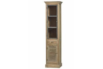 Colonne de salle de bain en bois avec porte vitrée gauche - HANOÏ