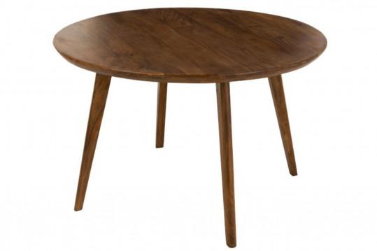 table ronde en bois de manguier