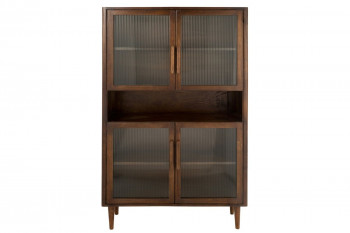 Vaisselier 4 portes en bois de manguier