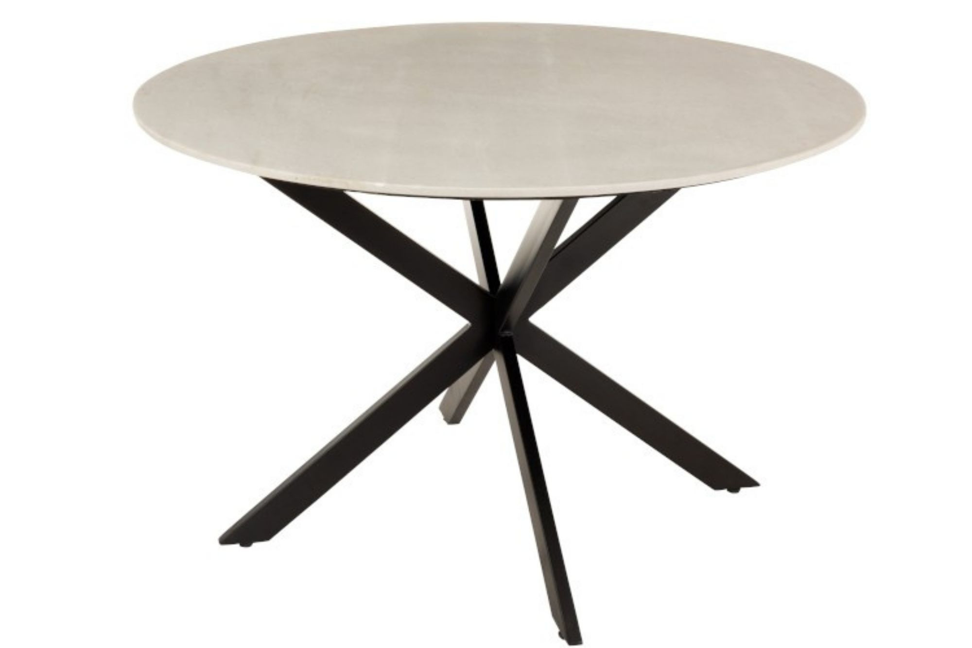 Table à manger ronde en marbre et pied métal