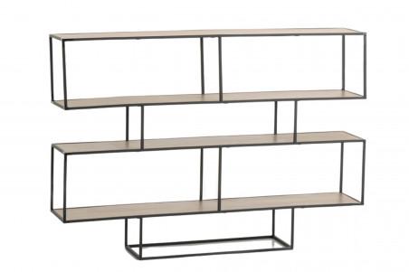 console en bois et métal style industriel