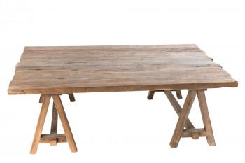grande table basse en bois recyclé