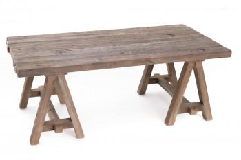 Table basse rectangulaire en bois recyclé L120 - LEONIE