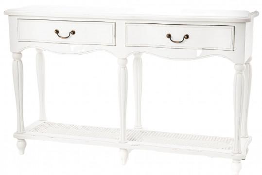 console drapier baroque blanche patiné
