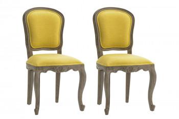 lot de 2 chaises baroques jaune