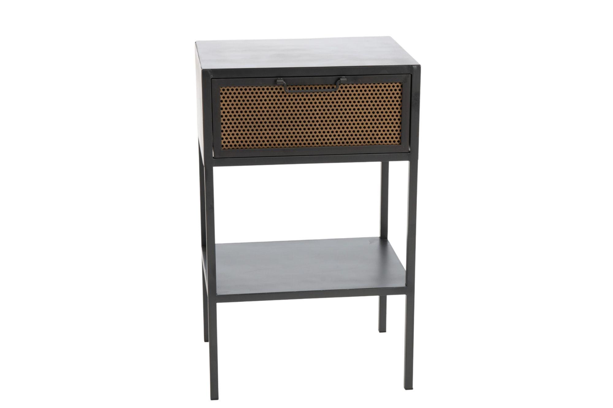 table de chevet industrielle en métal