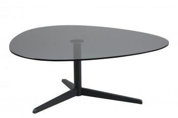 Table basse en verre et métal L103 - BARNI