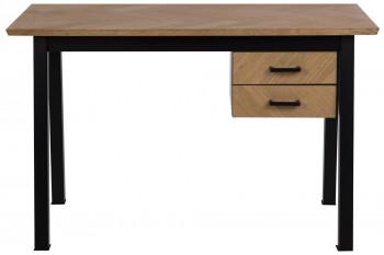 Bureau en bois 2 tiroirs - STELLA