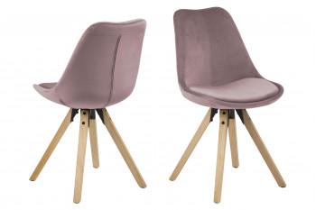 Chaises modernes bois et tissus - EARL (Lot de 2)