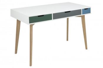 RECONDITIONNE - Bureau Karl 3 tiroirs de couleurs