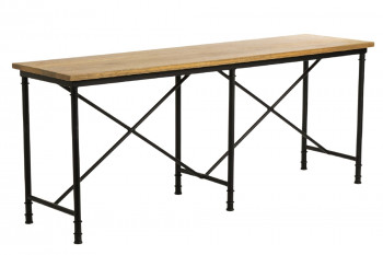 Console en bois et métal industrielle chic