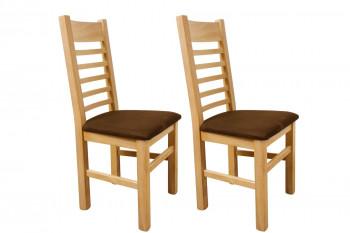 lot de deux chaises en chêne blanchi Boston