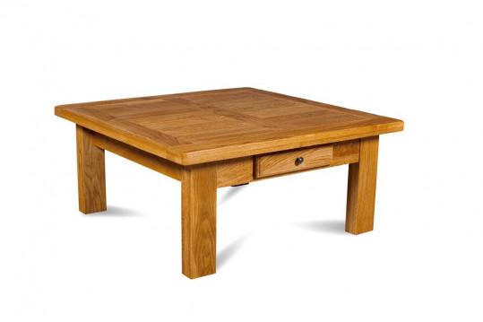 OCCASION Table basse de salon carrée La BRESSE en chêne moyen