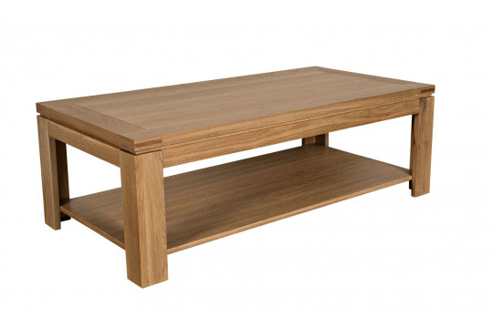 Table basse moderne BOSTON - bois chêne clair massif
