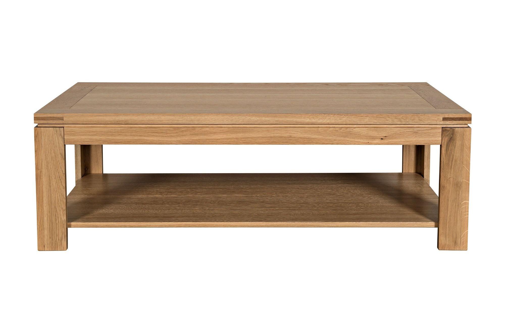 ca03e8e306af6 Table basse moderne BOSTON - bois chêne clair massif. Appuyez pour agrandir