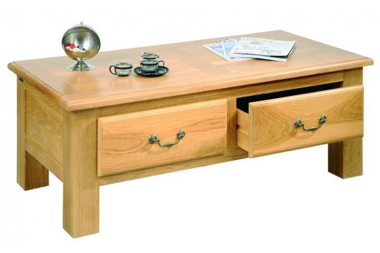 Table basse de salon MANSART - bois chêne massif