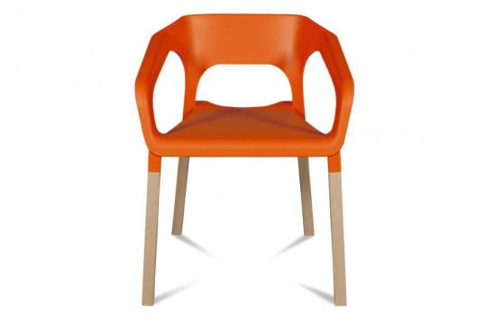 Chaises bois moderne - Coloris orange - KRAFT (Lot de 2)