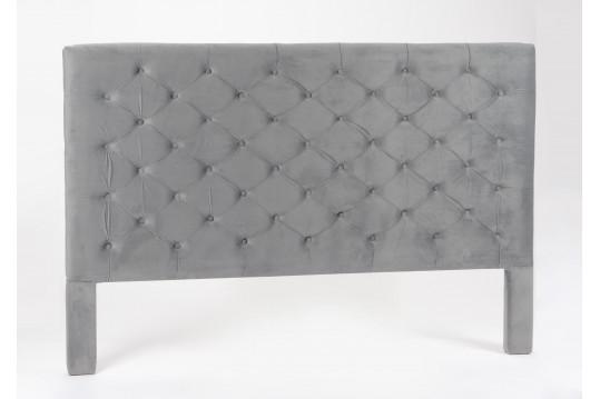 Tête de lit capiton gris foncé