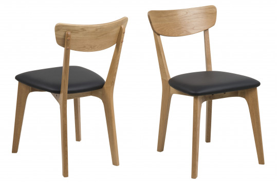 Lot de 2 Chaises modernes Chêne - PAIXA
