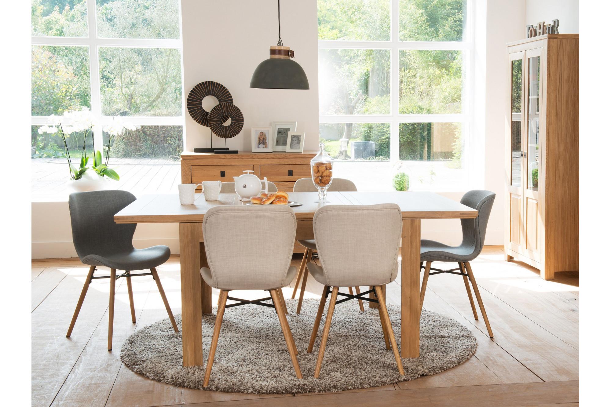 extensible de moderne à en chene Table manger HELLIN salle wNmvnO80