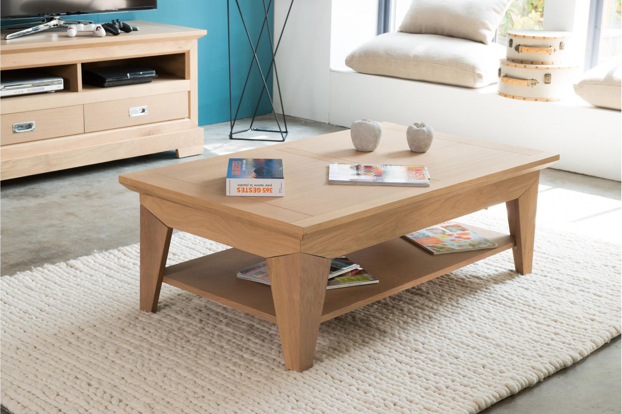 table basse de salon au design moderne en bois massif hellin. Black Bedroom Furniture Sets. Home Design Ideas