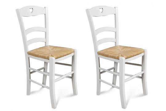 Lot de 2 chaises en hêtre Silva - coloris  Blanc