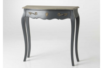 Console baroque en bois 1 tiroir - CELESTINE