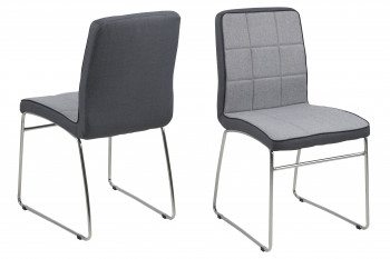 Chaises tissu et métal - BIBA (Lot de 2)
