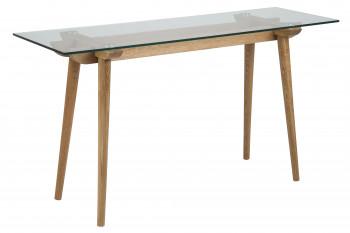 Console moderne en bois et verre PAIXA
