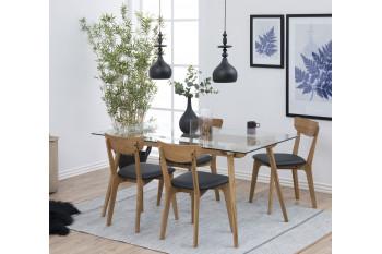 table moderne en bois et verre - PAIXA