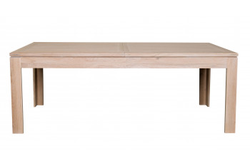 Table moderne extensible BOSTON L160/240 en chêne blanchi