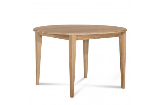 Table ronde bois à rallonges - 115 cm - Pieds fuseau - VICTORIA