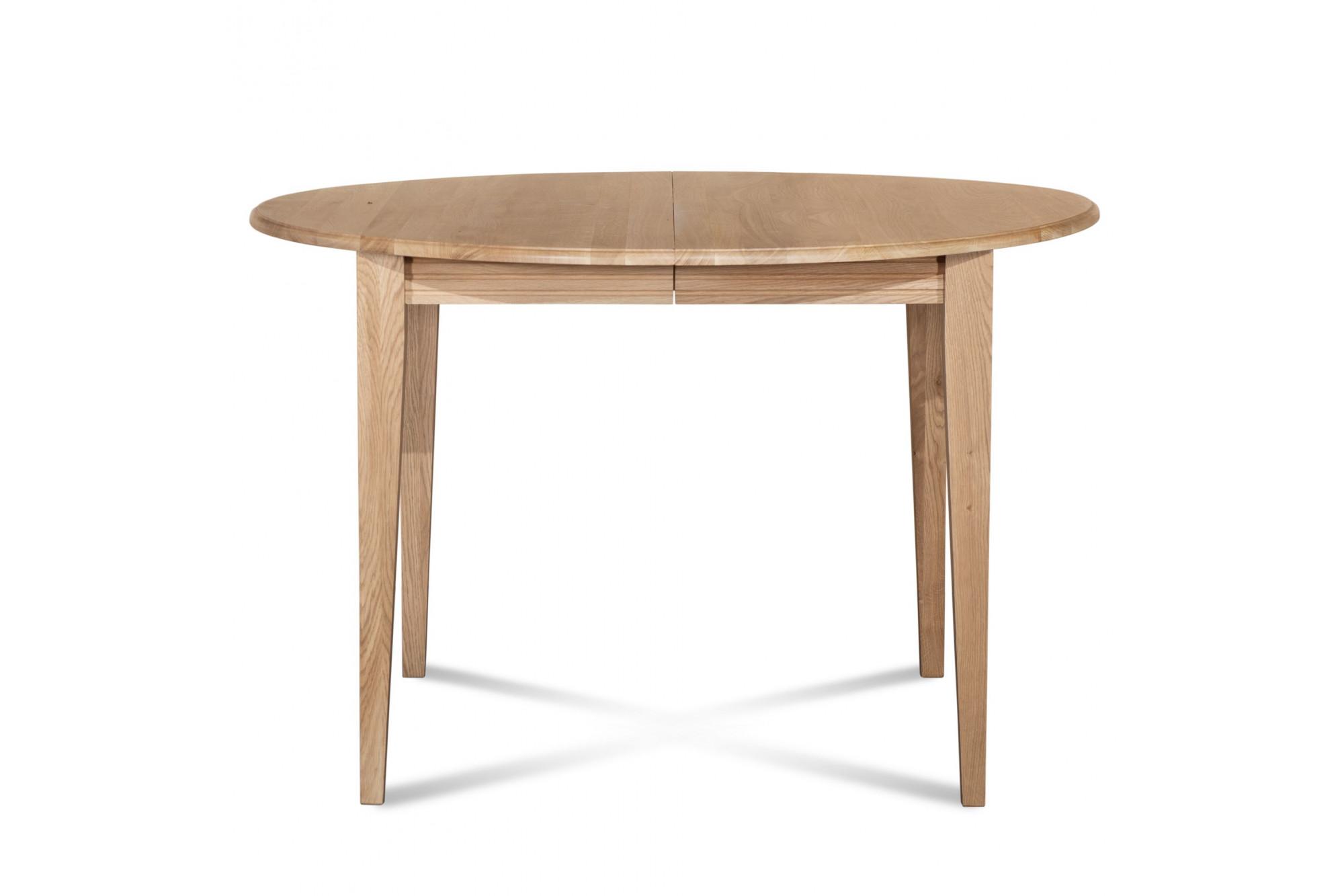 Table extensible ronde plateau 105 cm pieds fuseau hellin - Table ronde bois clair ...