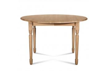 Table extensible ronde bois à rallonges - 105 cm - Pieds tournés - VICTORIA