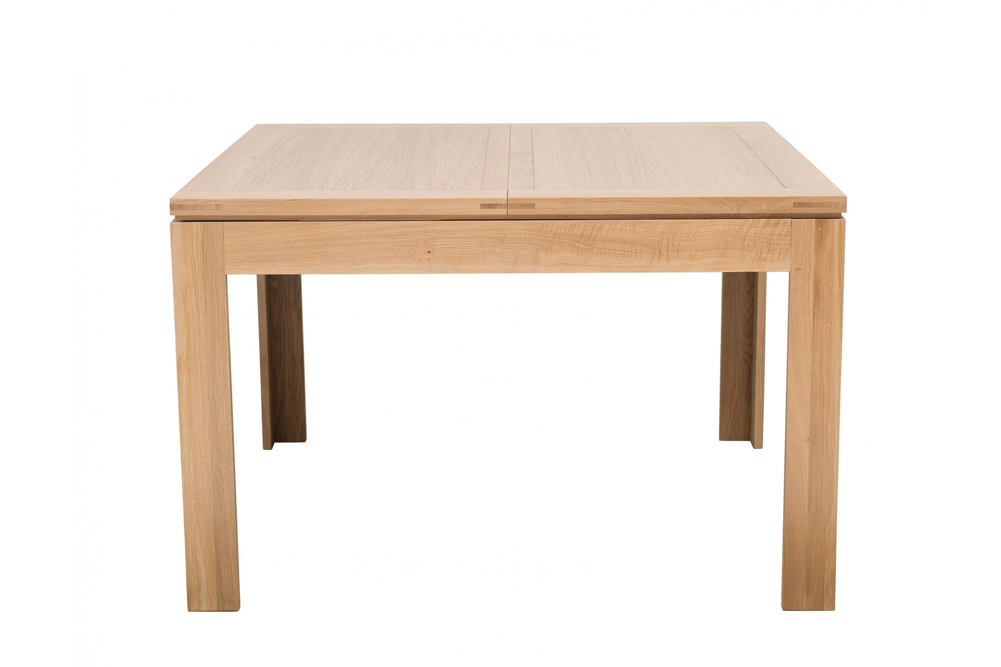 Table En Bois Chene Clair table carrée boston - bois chêne clair massif