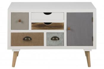 Commode 5 tiroirs 1 porte THALIA