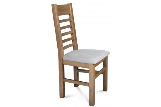 Lot de 2 Chaises en Chêne POIVRE - Assise Grise