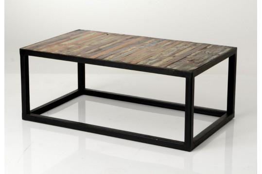 TABLE BASSE en bois/métal COPENHAGUE