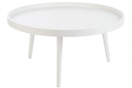 Table Basse Ronde Moderne Blanche Hellin